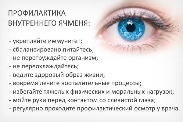 Внутрішній ячмінь на верхньому або нижньому столітті: лікування всередині ока, як лікувати