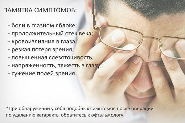 Реабілітація після операції при катаракті ока: поведінка в післяопераційний період, рекомендації