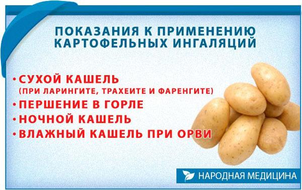 Картопля від кашлю: компреси, відвари і інші рецепти