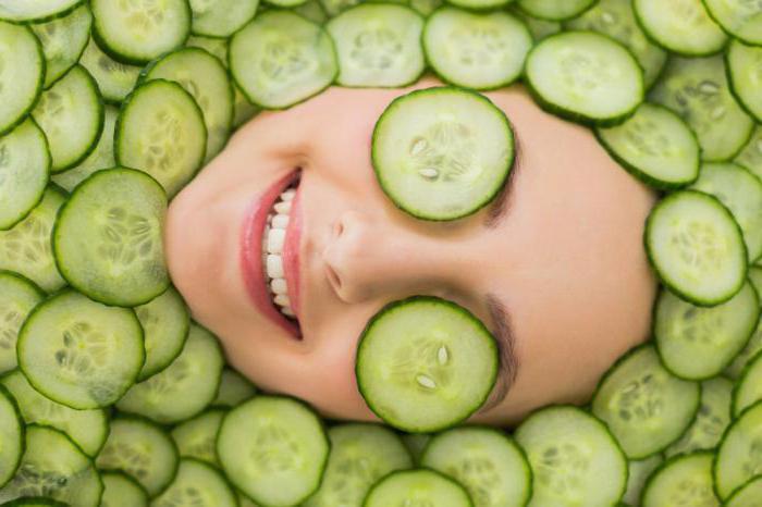 чим корисний огірок для шкіри обличчя