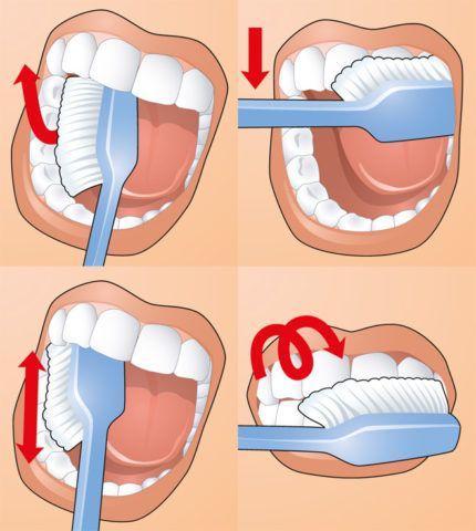 Для досягнення результату чистити зуби потрібно правильно