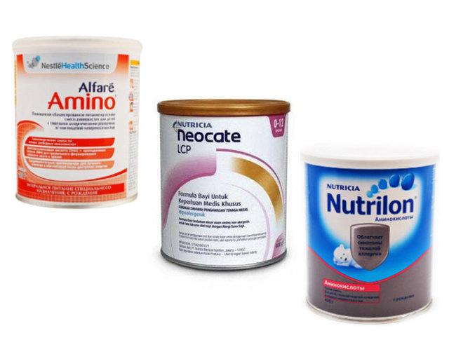 Амінокислотні суміші для дітей з алергією: огляди і склад