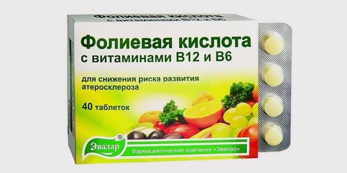 Фолієва кислота з вітамінами B12 і В6