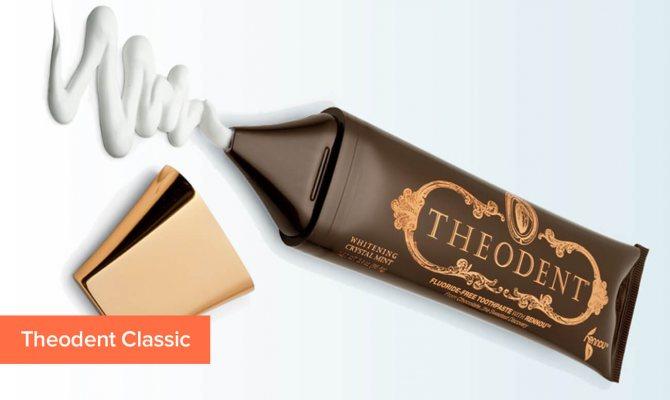 Фото зубної пасти з теоброміном Theodent Classic