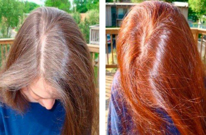 Хна для сивого волосся