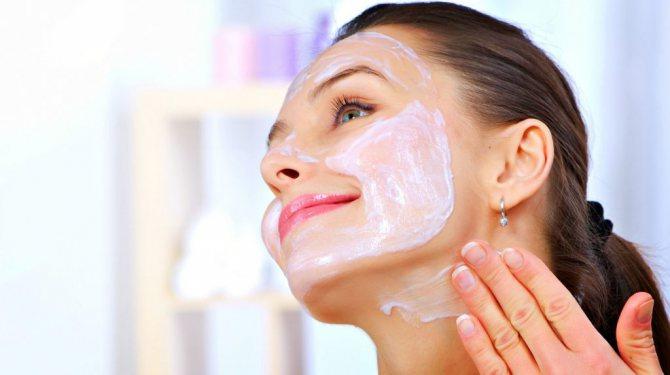 Кефірна маска з бурштинової кислотою для обличчя від зморшок