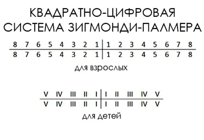 Квадратно-цифрова (система Зігмонді-Палмера)