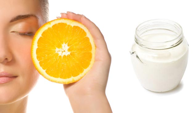 Маска для обличчя з апельсином і кислим молоком від зморшок