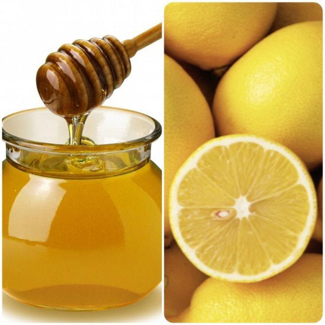 маска з медом і лимоном
