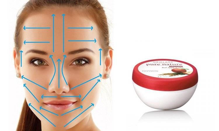 Масажні лінії і техніка нанесення крему на обличчя
