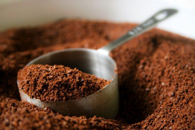 мелену каву для кавового скрабу