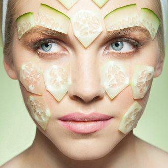 огірки на обличчі