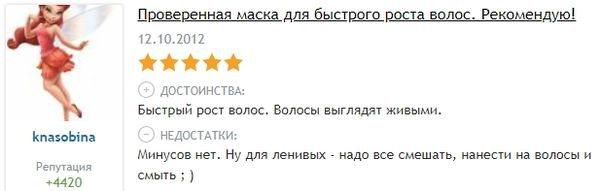 Відгук з otzovik.com про кропиву для росту волосся