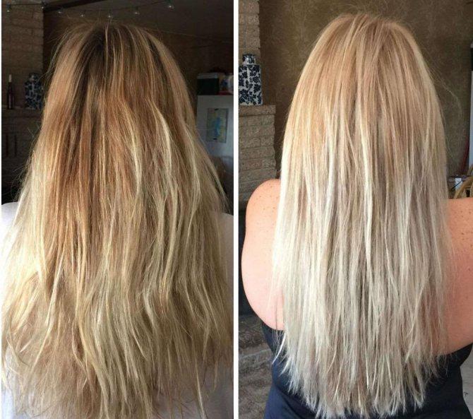 Відгуки про тонуючих засобах для волосся