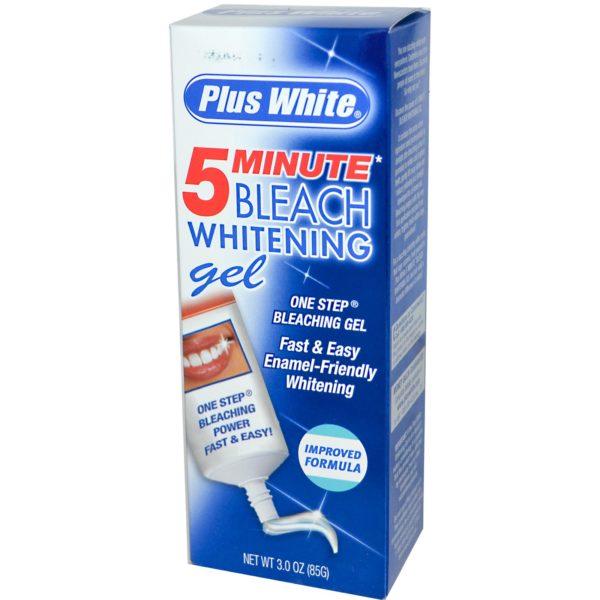 Plus White 5 Minute Bleach Whitening Gel дає ефект освітлення на 3-5 тонів