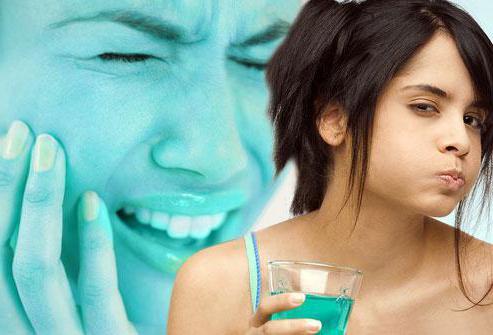 полоскання при зубному болю