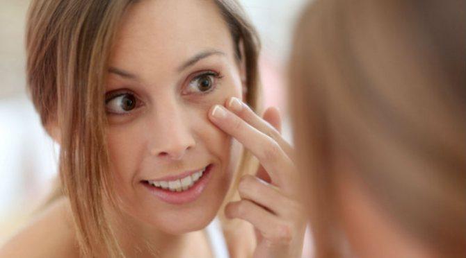 причини мішків під очима