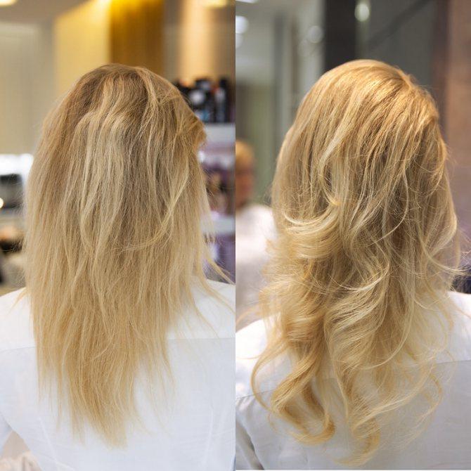 Процедура відновлення волосся
