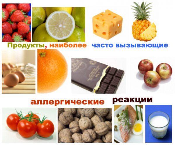 Продукти-алергени, заборонені при кропивниці