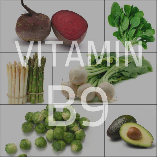 Продукти багаті вітаміном В9 (Нд)