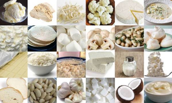 продукти для білої дієти