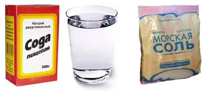 розчин соди і солі