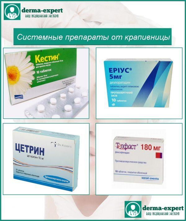 Системні препарати від кропив'янки