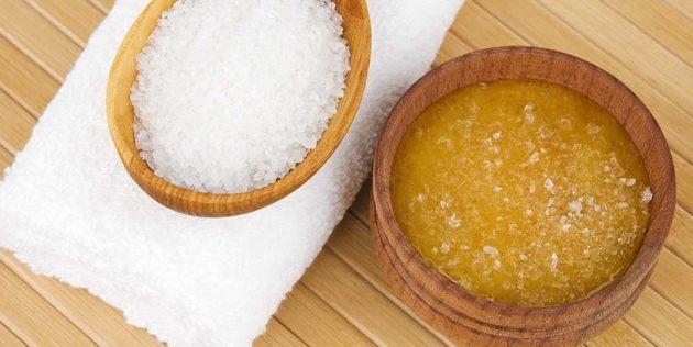 Скраб з морської солі і меду для зміцнення волосся