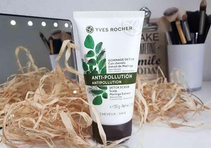 Скраб Yves Rocher Anti-Polution з екстрактом морінгі