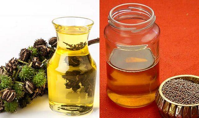 Суміш гірчичного і касторової олій