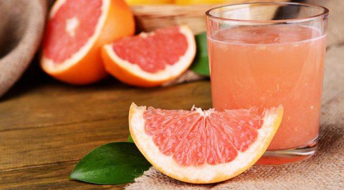 Сік грейпфрута для масок на обличчя