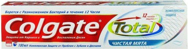 Склад зубної пасти colgate дбайливе відбілювання російською