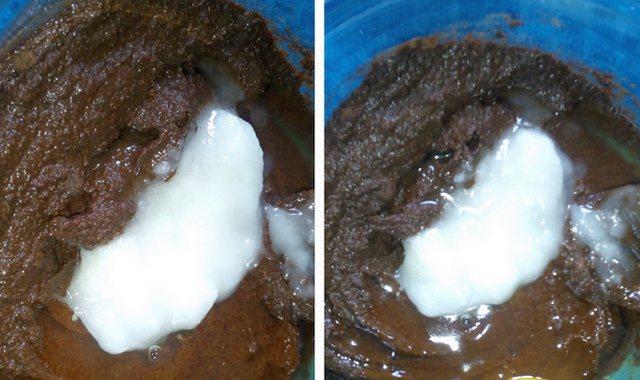 Сухий порошок хни і кокосове масло
