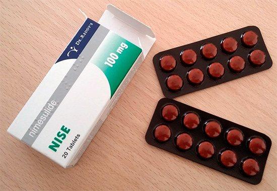 Таблетки Найз (Nise) - досить часто використовуються при різних видах болю.
