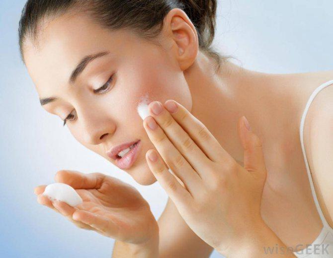 Зволоження шкіри після застосування перекису