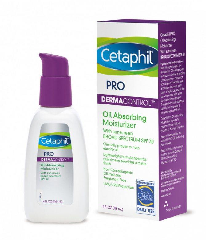 Зволожуючий крем Oil Absorbing Moisturizer SPF 30 від Cetaphil