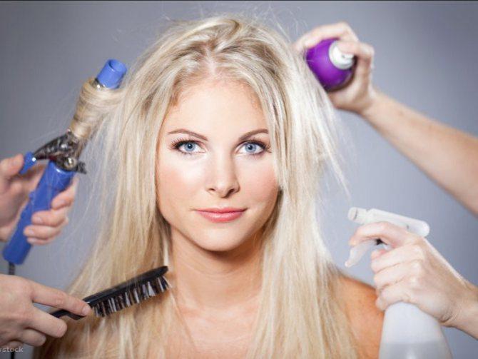 Зовнішній вплив на волосся