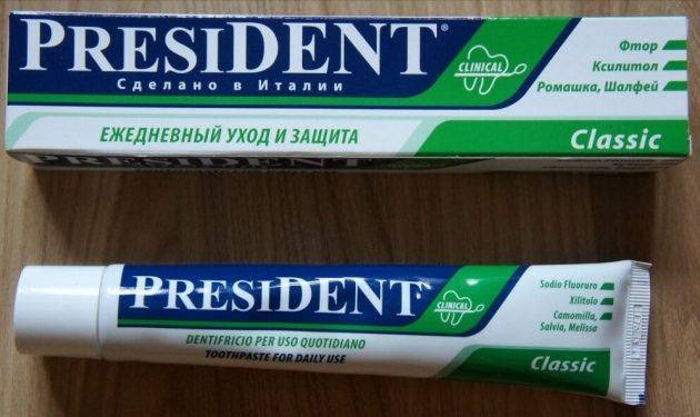 Зубна паста Президент Класик